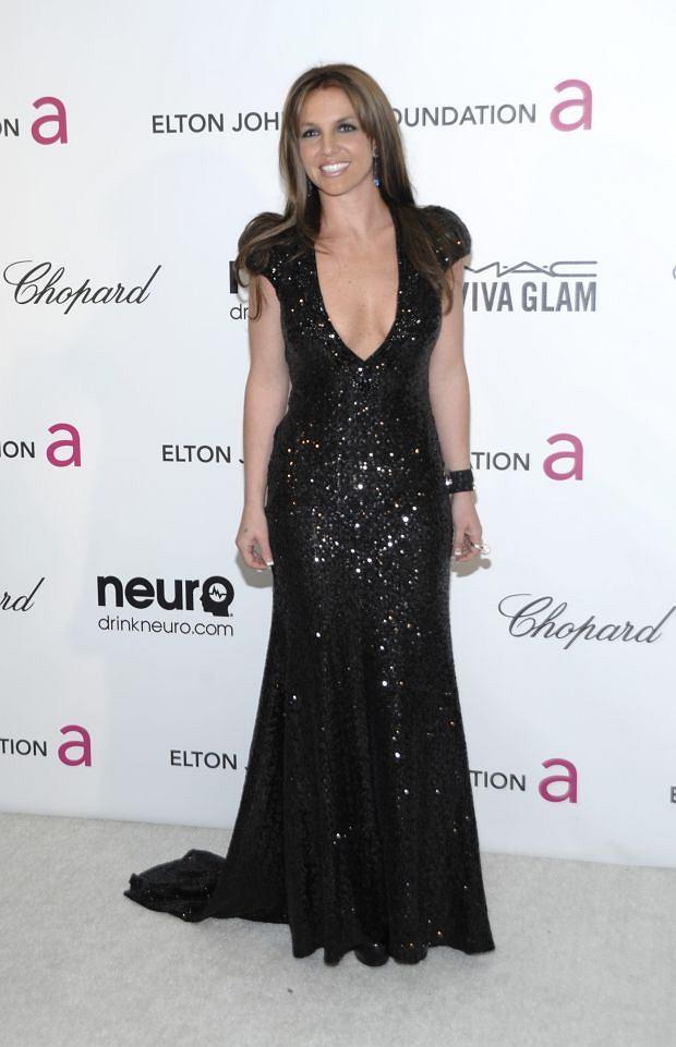 Singer Britney Spears arrives at the 2013 Elton John Oscar Party in West Hollywood, Calif. on Sunday, Feb. 24, 2013. (Dan Steinberg/Invision/AP)