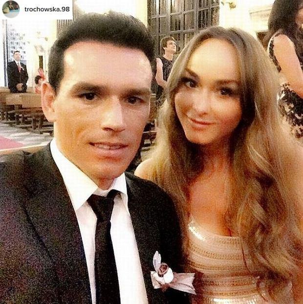 Piotr Trochowski z żoną Melanie Tiburtius