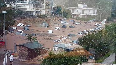 Powodzie w Grecji. Zdjęcie z 26 lipca