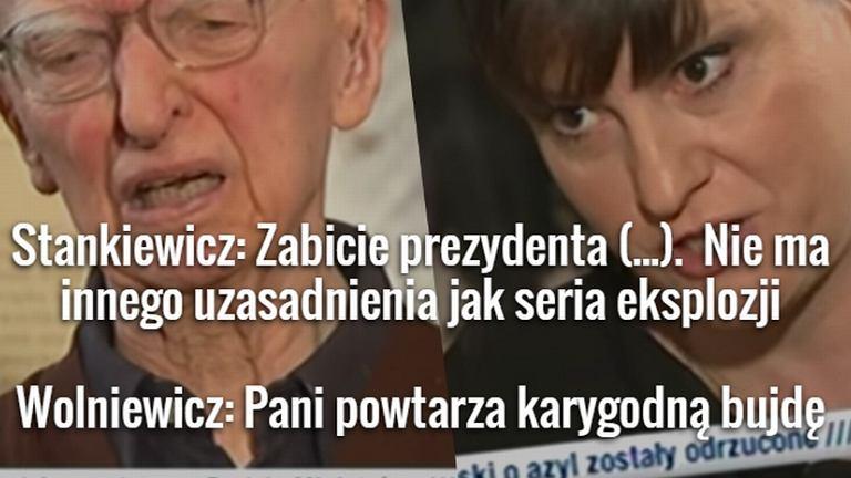 Ewa Stankiewicz i prof. Bogusław Wolniewicz