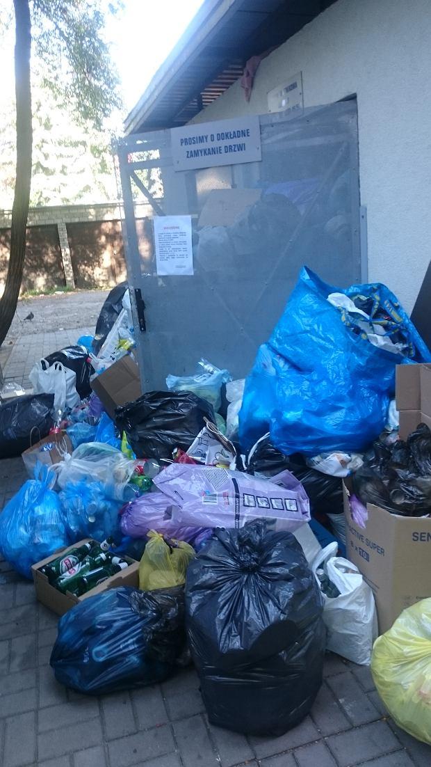 Problem śmieci na Mokotowie. Śmieci na Al. Niepodległości