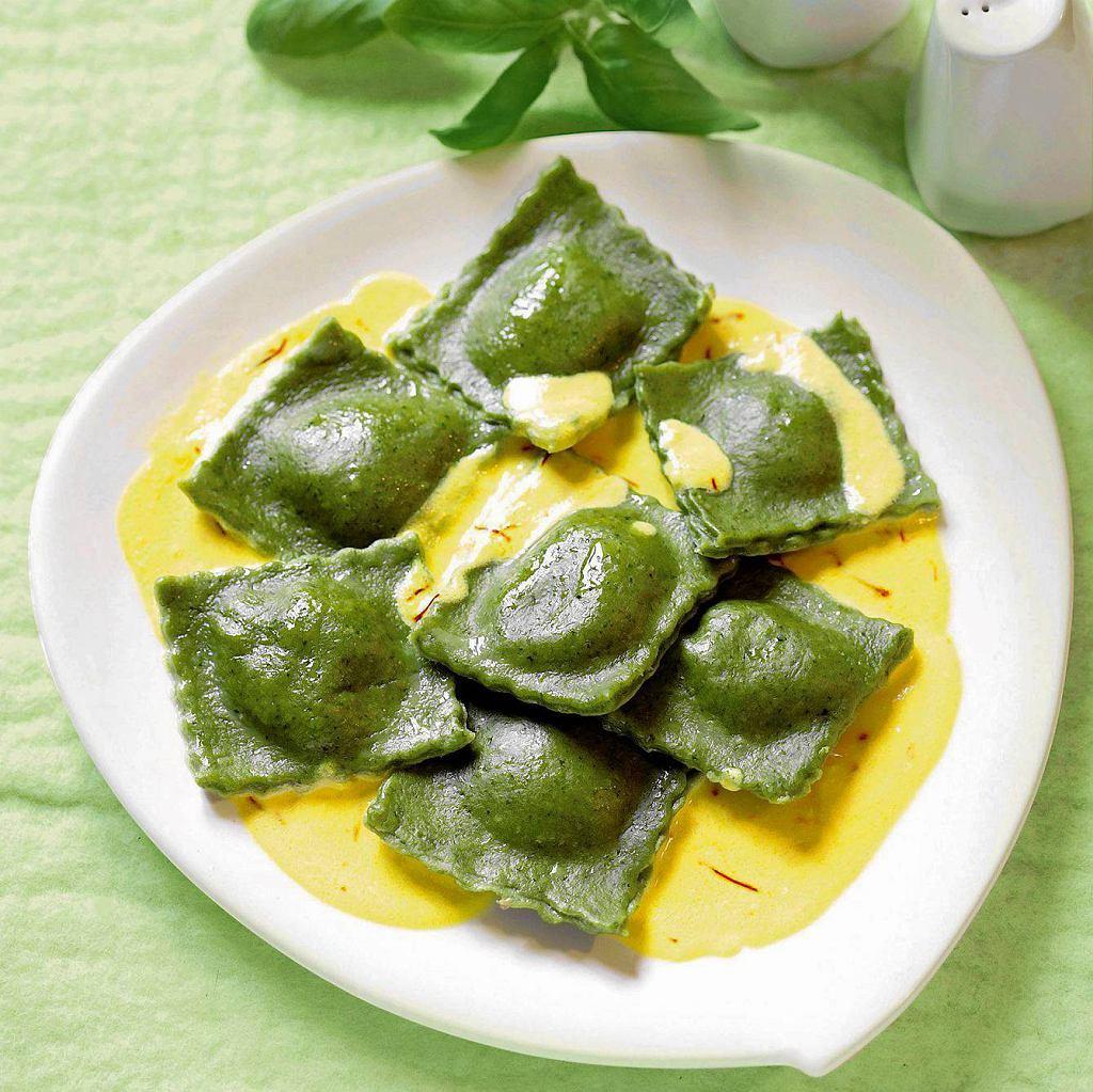 Zielone ravioli