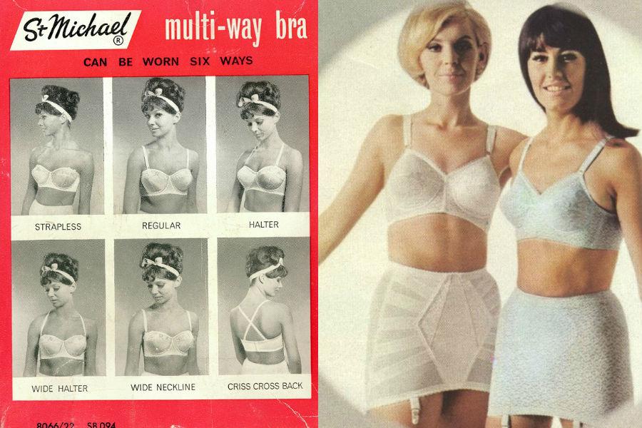 6d58be5019f8cb W latach 60. do sklepów Marks&Spencer trafilł elastyczny biustonosz z  regulowanymi ramiączkami