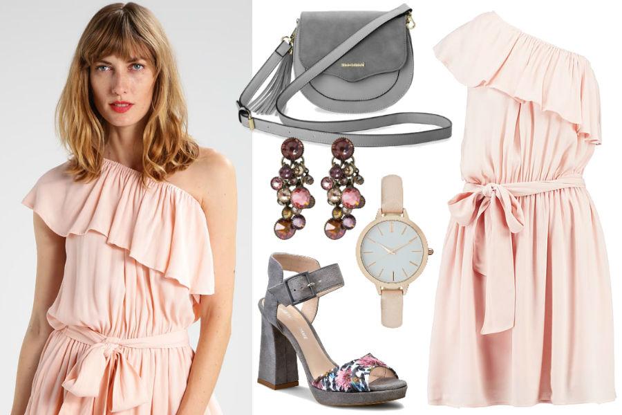 2e76103c67 Kolaż Avanti24   Różowa sukienka one shoulder   Materiały partnera