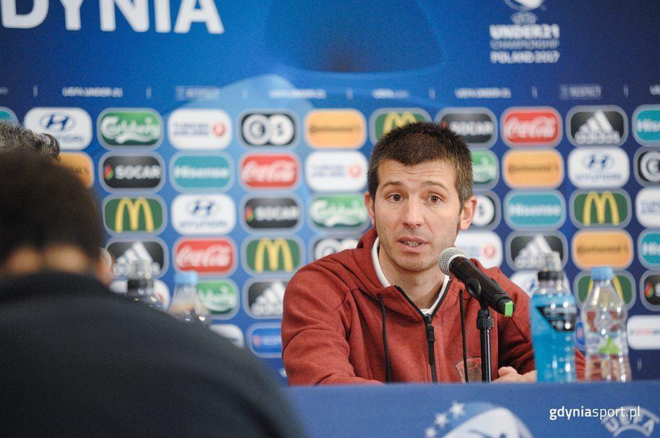 Euro U21. Konferencja po meczu Portugalia - Hiszpania. Albert Celades