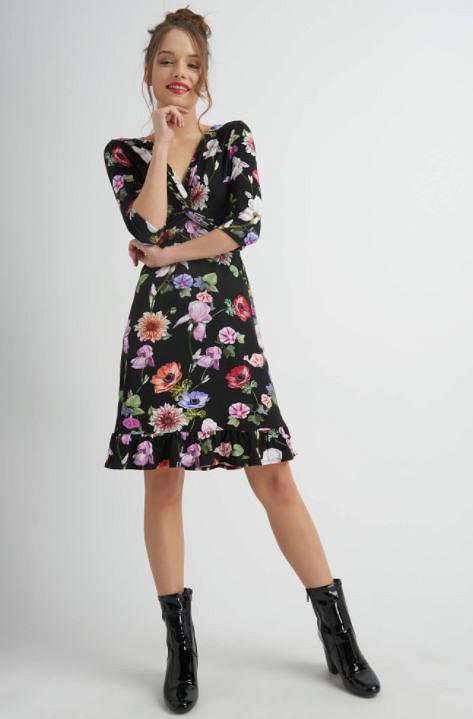 Jerseyowa sukienka w kwiaty