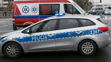 Policyjny radiowóz i karetka pogotowia / zdjęcie ilustracyjne