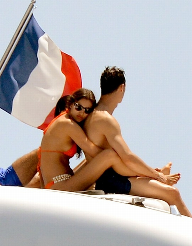 Christiano Ronaldo and his girlfriend supermodel Irina Shayk spend some days on vacation with his family in Saint-Tropez, France on July 3, 2012. Photo by ABACAPRESS.COM