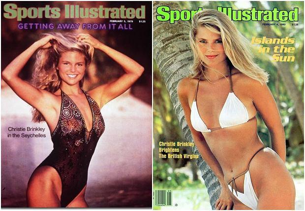 Christie Brinkley na okładkach 'Sports Illustrated Swimsuit Issue' w 1979 r. i 1980 r.