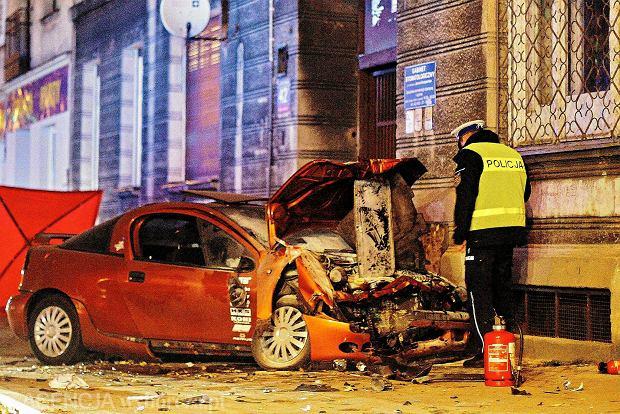 Tragiczny wypadek w centrum Łodzi. Dwie osoby nie żyją
