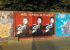 Nowy mural na murze toru wyścigowego na Służewcu