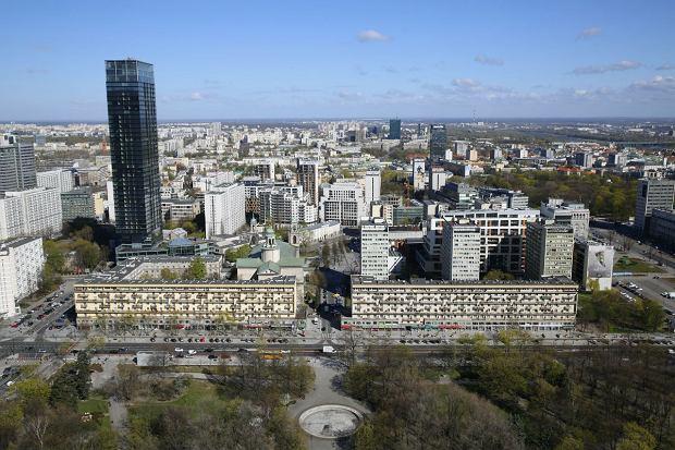Widok Warszawy z 30 piętra PKiN.