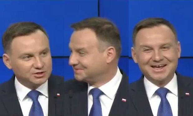 Andrzej Duda podczas konferencji z Donaldem Tuskiem.