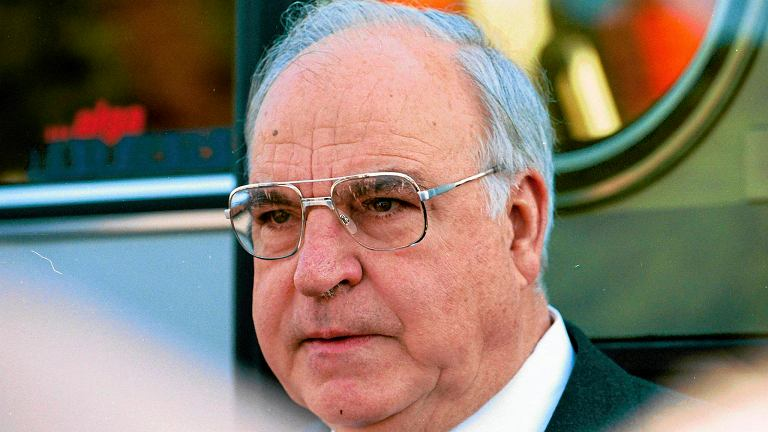Helmut Kohl w Warszawie w 1995 roku