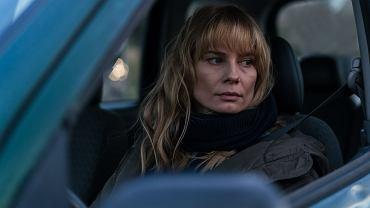 Magdalena Cielecka na planie filmu 'Ciemno, prawie noc' Borysa Lankosza