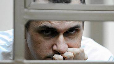 Oleg Sencow na sali sądowej 21 lipca 2015