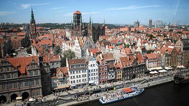 Panorama Głównego Miasta Gdańska