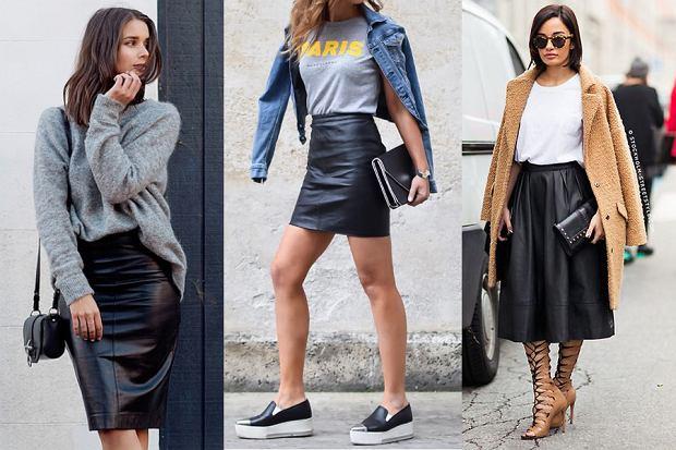 Skórzana spódnica - dodaj pazura swojej stylizacji