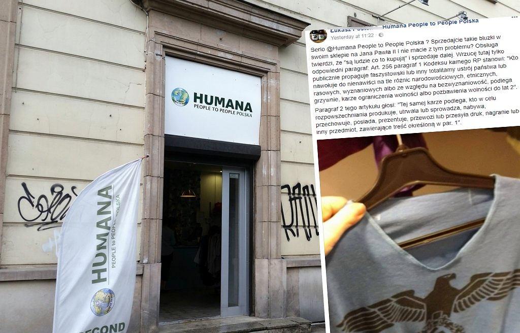 1d133a00b403 Sklep w Warszawie sprzedaje koszulkę ze swastyką.