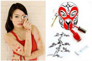 """""""Red"""" Hong Yi jest artystk�, kt�ra tworzy niezwyk�e obrazki za pomoc�... kosmetyk�w. Pi�kne?"""