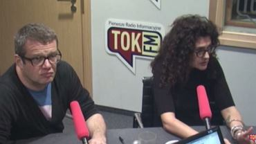 "Marcin Meller i Aleksandra Pawlicka w ""Poranku Radia TOK FM"""