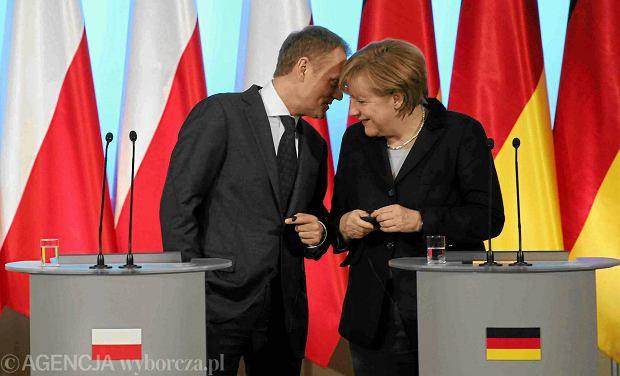 Polityczna przyja�� polsko-niemiecka: Donald Tusk i Angela Merkel
