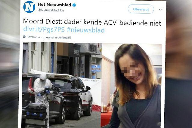 Atak na urzędniczkę w Belgii