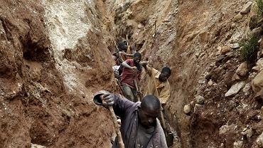 Kopalnia minerałów w Kongo