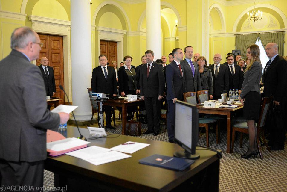 Listopad 2014 r. Pierwsze posiedzenie Sejmiku Mazowsza w kadencji 2014-2018