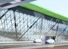 Krak�w Airport - widok spod k�adki (wizualizacja)