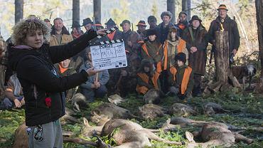 Plan zdjęciowy filmu 'Pokot' w reżyserii Agnieszki Holland w Kotlinie Kłodzkiej