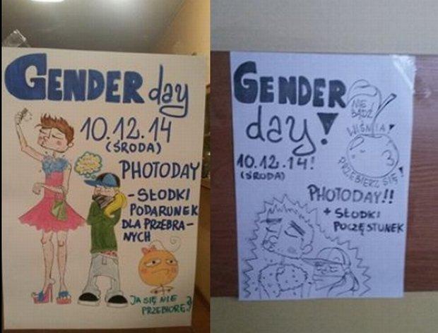 """""""Lewacka ha�astra"""". Po fali hejtu w sieci uczniowie odwo�ali """"gender day"""". A to mia�a by� zwyk�a zabawa"""