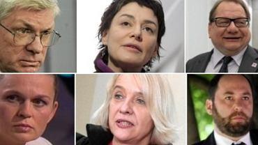 Andrzej Celiński, Kazimiera Szczuka, Ryszard Kalisz, Barbara Nowacka, Ewa Wójciak, Jan Hartman