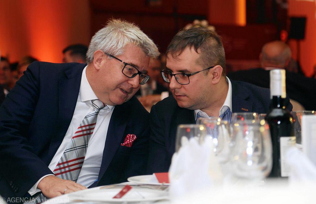 Ryszard Czarnecki z Przemysławem Czarneckim
