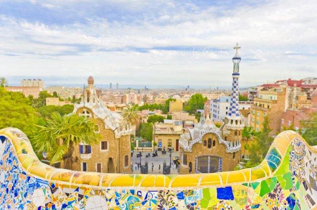 Barcelona, widok na miasto z parku Guell.