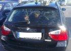 Dwa rottweilery uwi�zione w baga�niku BMW przy Castoramie. W pe�nym s�o�cu [WIDEO]