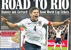 <i>Reprezentacja Anglii pokonała na Wembley Polskę 2:0 i awansowała do przyszłorocznych mistrzostw świata w Brazylii. Bramki dla zespołu Roya Hodgsona strzelili Wayne Rooney i Steven Gerrard i to oni są głównymi bohaterami okładek brytyjskich gazet. Choć Polacy też zebrali sporo pochwał za swoją postawę.</i><br> Na początek okładka 'Daily Express' i 'Chłopcy Roya na drodze do Rio'. 'Rooney i Gerrard zarezerwowali bilety na mistrzostwa świata' - cieszy się gazeta.
