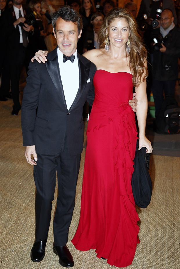 Dylan Lauren, right, and Andrew Lauren the children of designer Ralph Lauren  arrive for their fathers collection show and private dinner at  Paris Les Beaux-Arts