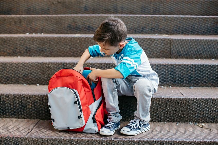 89c22cb1fd1f7 Zbyt ciężki plecak może zaszkodzić zdrowiu dzieci, a w szczególności  powodować wady postawy