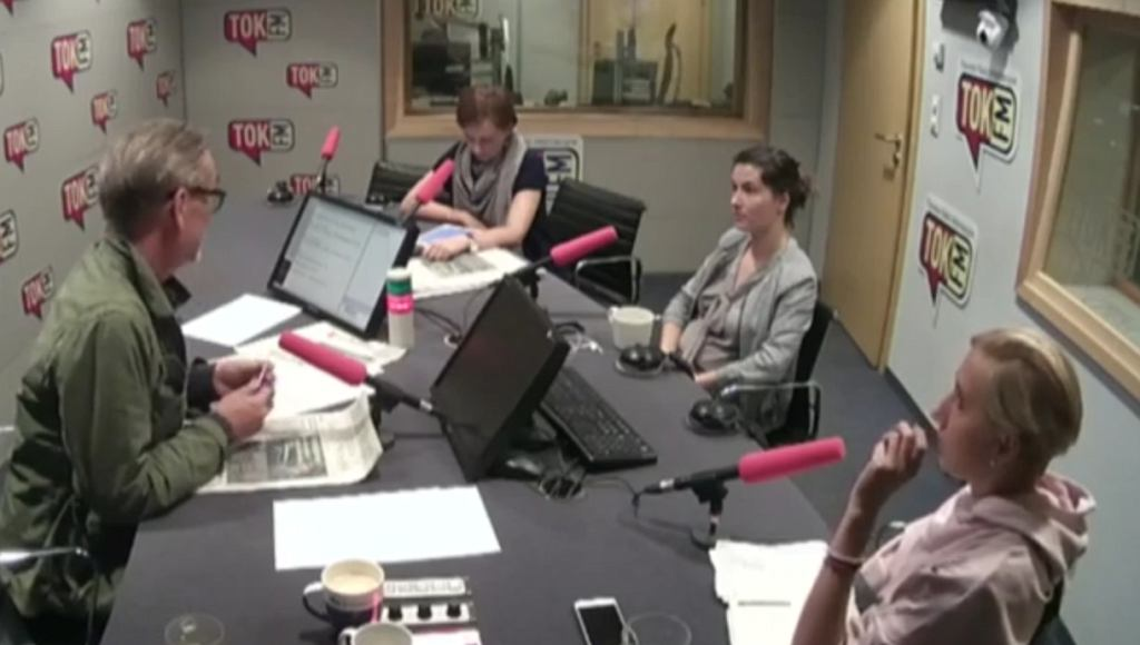 Jacek Żakowski, Karolina Lewicka, Karolina Wigura i Anna Materska-Sosnowska