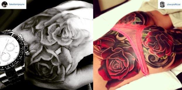 Tatuaże Liama Payne i Cheryl Fernandez-Versini