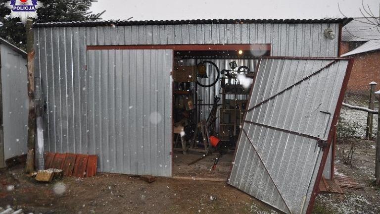 Okradziony garaż
