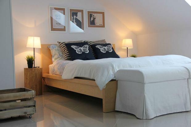 Łóżko drewniane świetne do sypialni