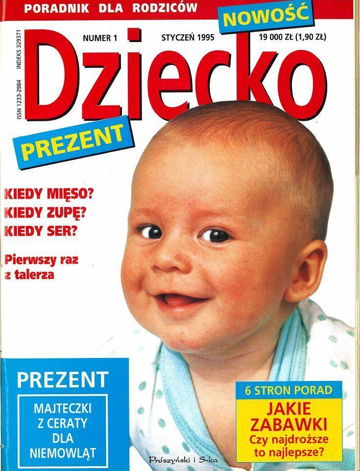 Pierwszy numer magazynu 'Dziecko' z ceną... 19 000 zł. To były czasy...
