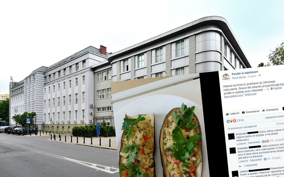 Szpital na Inflanckiej i jeden z posiłków tam serwowanych