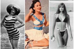 Kostiumy k�pielowe na przestrzeni lat - czyli jak bikini stawa�o si� coraz mniejsze i mniejsze...