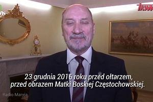 Antoni Macierewicz tłumaczy, dlaczego protest w Sejmie zakończono dzięki Matce Boskiej Częstochowskiej
