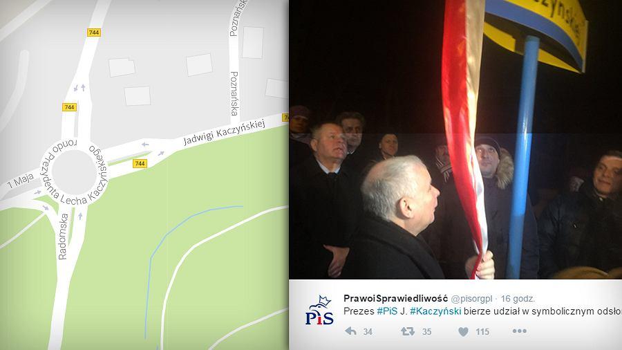 W Starachowicach przy rondzie Lecha Kaczyńskiego jest ulica Jadwigi Kaczyńskiej