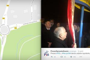 Kaczyński uczcił w Starachowicach pamięć matki. Ul. Jadwigi Kaczyńskiej przy rondzie... Lecha Kaczyńskiego