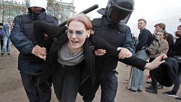 Protest w Sankt Petersburg przeciwko 4. kadencji Władimira Putina